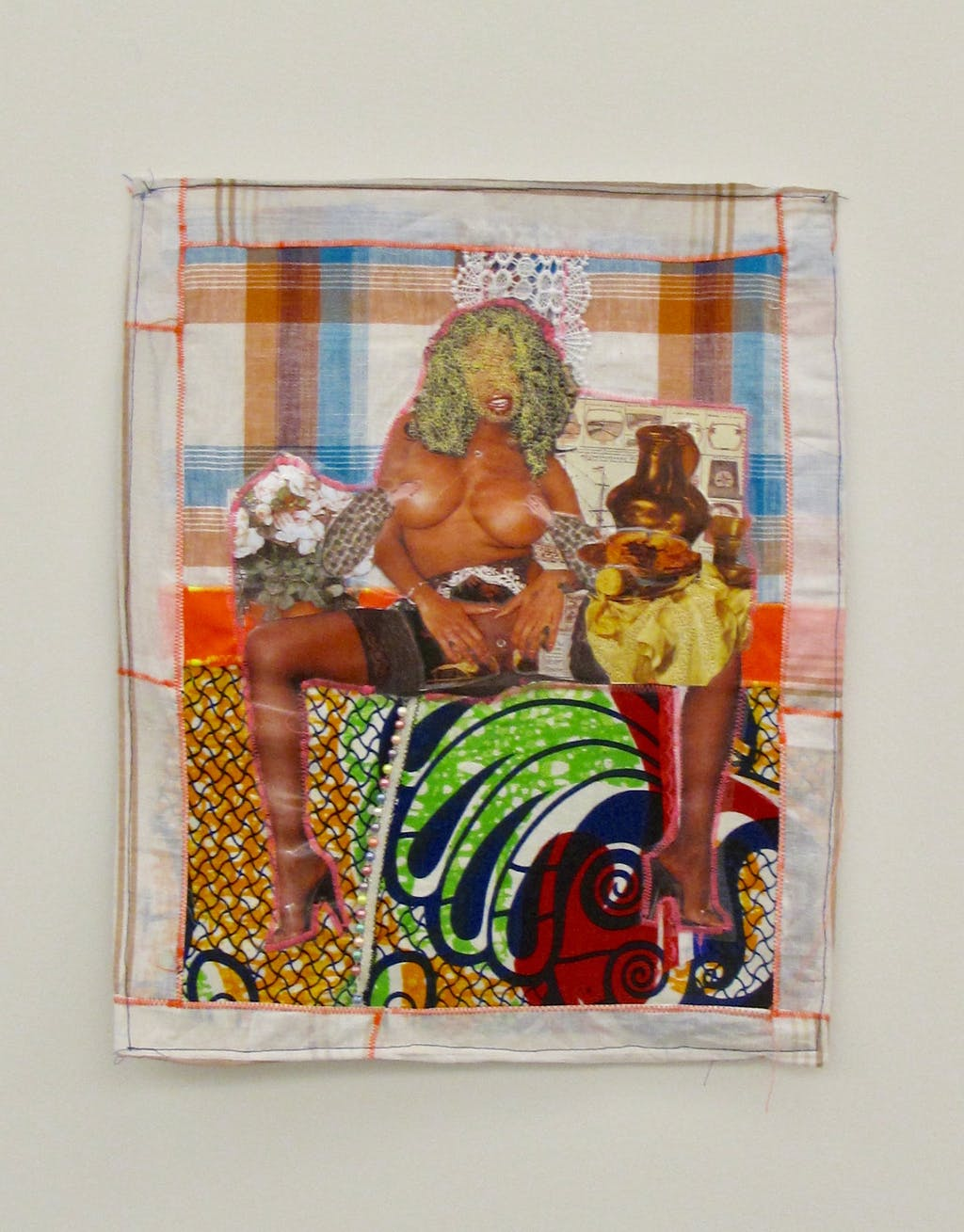 Patricia Kaersenhout Your History Makes Me So Horny, 2011 mixed media on textile, 50 cm x 40 cm, framed in perspex box (7) - © Paris Internationale
